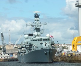 View from torpoint ferry devon