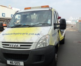wheelchair cars at Southampton docks