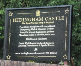 Heddingham castle sign