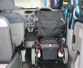 wheelchair up-to steering wheel